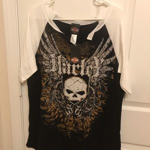 NEW with Tag Harley-Davidson Women's BLING Tee !